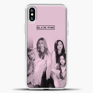 Blackpink Pink Cover iPhone XS Case, White Plastic Case | casedilegna.com