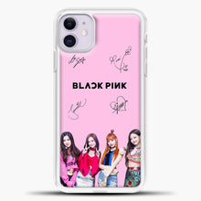Load image into Gallery viewer, Blackpink Signature iPhone 11 Case, White Plastic Case | casedilegna.com