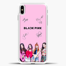Load image into Gallery viewer, Blackpink Signature iPhone X Case, White Plastic Case | casedilegna.com