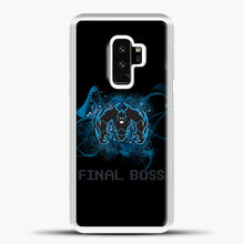 Load image into Gallery viewer, Boss Blue Smoke Samsung Galaxy S9 Case, White Plastic Case | casedilegna.com