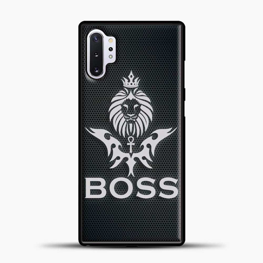 Boss Carbon Viber Background Samsung Galaxy Note 10 Plus Case, Black Plastic Case | casedilegna.com