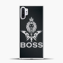 Load image into Gallery viewer, Boss Carbon Viber Background Samsung Galaxy Note 10 Plus Case, White Plastic Case | casedilegna.com