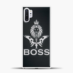 Boss Carbon Viber Background Samsung Galaxy Note 10 Plus Case, White Plastic Case | casedilegna.com