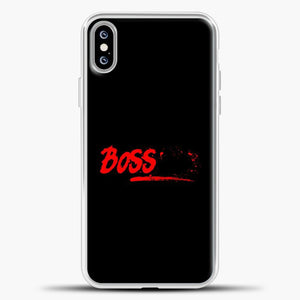 Boss Red Image iPhone XS Max Case, White Plastic Case | casedilegna.com