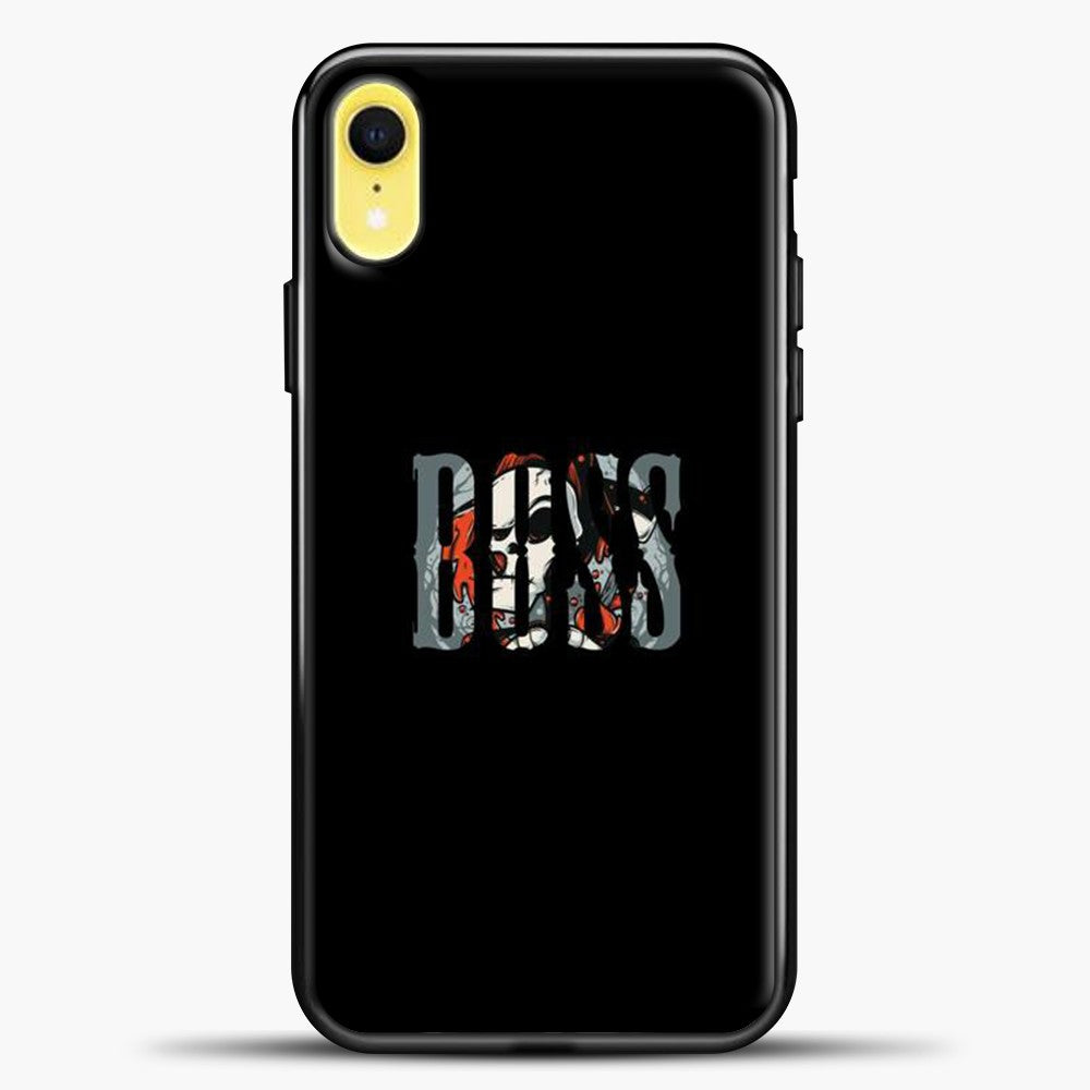 Boss Skull Image iPhone XR Case, Black Plastic Case | casedilegna.com