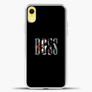 Boss Skull Image iPhone XR Case, White Plastic Case | casedilegna.com