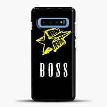 Load image into Gallery viewer, Boss Yellow Star Samsung Galaxy S10 Case, Black Plastic Case | casedilegna.com