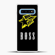 Load image into Gallery viewer, Boss Yellow Star Samsung Galaxy S10 Case, White Plastic Case | casedilegna.com