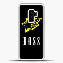 Load image into Gallery viewer, Boss Yellow Star Samsung Galaxy S9 Plus Case, White Plastic Case | casedilegna.com