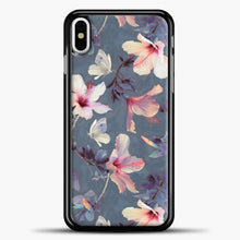 Load image into Gallery viewer, Butterflies And Hibiscus Flowers iPhone Case, Black Plastic Case | casedilegna.com
