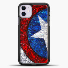 Load image into Gallery viewer, Captain America Splash Paint Logo iPhone 11 Case, Black Plastic Case | casedilegna.com