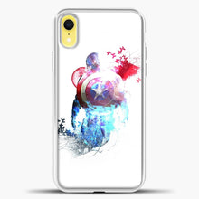 Load image into Gallery viewer, Captain America Watercolor Back White iPhone XR Case, White Plastic Case | casedilegna.com