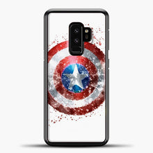 Load image into Gallery viewer, Captain America Watercolor Shield Samsung Galaxy S9 Case, Black Plastic Case | casedilegna.com
