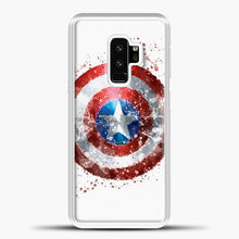Load image into Gallery viewer, Captain America Watercolor Shield Samsung Galaxy S9 Case, White Plastic Case | casedilegna.com