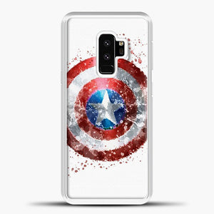 Captain America Watercolor Shield Samsung Galaxy S9 Case, White Plastic Case | casedilegna.com