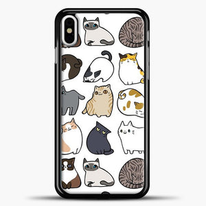 Cats Cats Cats Pattern iPhone X Case