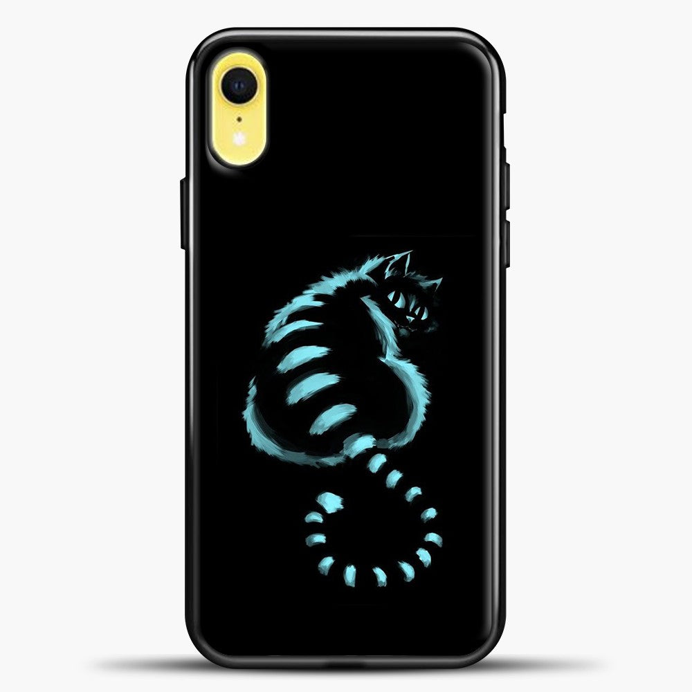 Cheshire Cat Alice iPhone XR Case, Black Plastic Case | casedilegna.com