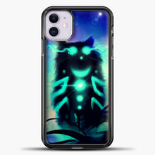 Load image into Gallery viewer, Cheshire Cat Blue Shadow iPhone 11 Case, Black Plastic Case | casedilegna.com