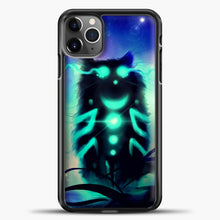 Load image into Gallery viewer, Cheshire Cat Blue Shadow iPhone 11 Pro Max Case, Black Plastic Case | casedilegna.com
