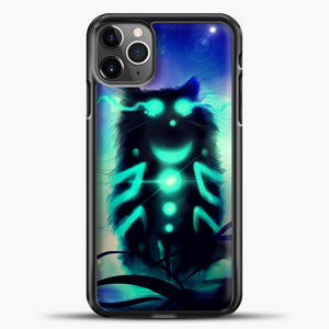 Cheshire Cat Blue Shadow iPhone 11 Pro Max Case, Black Plastic Case | casedilegna.com