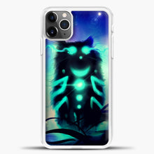 Load image into Gallery viewer, Cheshire Cat Blue Shadow iPhone 11 Pro Max Case, White Plastic Case | casedilegna.com