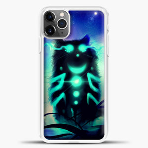 Cheshire Cat Blue Shadow iPhone 11 Pro Max Case, White Plastic Case | casedilegna.com