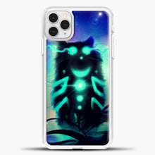 Load image into Gallery viewer, Cheshire Cat Blue Shadow iPhone 11 Pro Case, White Plastic Case | casedilegna.com