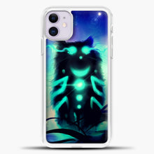 Load image into Gallery viewer, Cheshire Cat Blue Shadow iPhone 11 Case, White Plastic Case | casedilegna.com