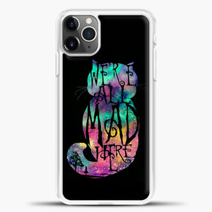 Cheshire Cat Colorful Image iPhone 11 Pro Max Case, White Plastic Case | casedilegna.com