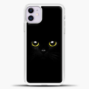 Cheshire Cat Cute Eyes iPhone 11 Case, White Plastic Case | casedilegna.com
