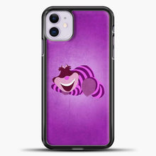 Load image into Gallery viewer, Cheshire Cat Cute iPhone 11 Case, Black Plastic Case | casedilegna.com