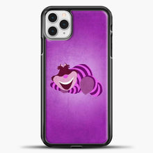 Load image into Gallery viewer, Cheshire Cat Cute iPhone 11 Pro Case, Black Plastic Case | casedilegna.com