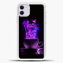 Load image into Gallery viewer, Cheshire Cat Smoke Purple iPhone 11 Case, White Plastic Case | casedilegna.com