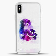 Load image into Gallery viewer, Cheshire Cat Watercolor Image iPhone XS Max Case, White Plastic Case | casedilegna.com