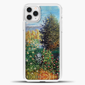 Corner Of The Garden At Mongeron Blue Sky Background iPhone 11 Pro Case, White Plastic Case | casedilegna.com