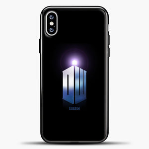 Doctor Who Tardis Purple Light iPhone XS Max Case, Black Plastic Case | casedilegna.com
