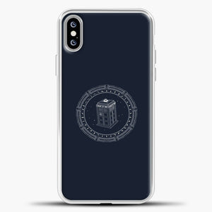 Doctor Who Tardis Time Machine In A Circle iPhone XS Max Case, White Plastic Case | casedilegna.com