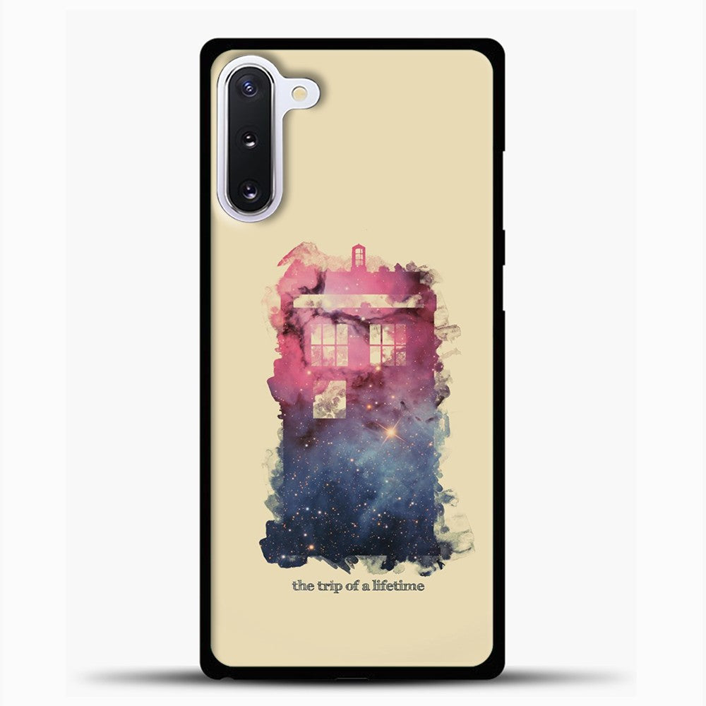 Doctor Who Tardis Wallpaper Samsung Galaxy Note 10 Case, Black Plastic Case | casedilegna.com