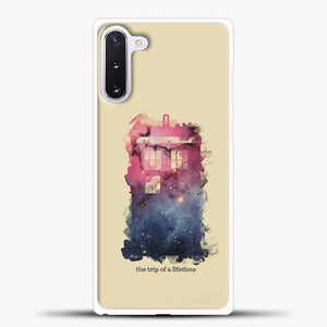 Doctor Who Tardis Wallpaper Samsung Galaxy Note 10 Case, White Plastic Case | casedilegna.com