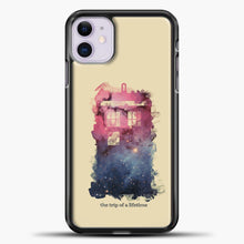Load image into Gallery viewer, Doctor Who Tardis Wallpaper iPhone 11 Case, Black Plastic Case | casedilegna.com