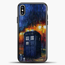 Load image into Gallery viewer, Doctor Who Tardis Watercolor Image iPhone XS Max Case, Black Plastic Case | casedilegna.com