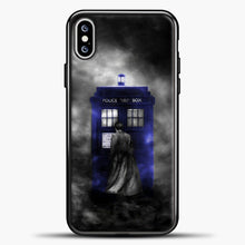 Load image into Gallery viewer, Doctor Who Tardis White Smoke iPhone XS Max Case, Black Plastic Case | casedilegna.com