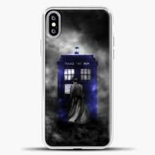 Load image into Gallery viewer, Doctor Who Tardis White Smoke iPhone XS Max Case, White Plastic Case | casedilegna.com