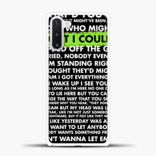 Load image into Gallery viewer, Everything I Wanted Billie Eilish Lyrics Black Samsung Galaxy Note 10 Case, White Plastic Case | casedilegna.com