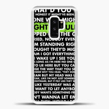 Load image into Gallery viewer, Everything I Wanted Billie Eilish Lyrics Black Samsung Galaxy S9 Case, White Plastic Case | casedilegna.com