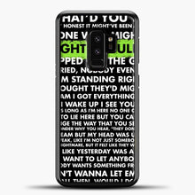 Load image into Gallery viewer, Everything I Wanted Billie Eilish Lyrics Black Samsung Galaxy S9 Plus Case, Black Plastic Case | casedilegna.com