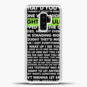 Everything I Wanted Billie Eilish Lyrics Black Samsung Galaxy S9 Plus Case, White Plastic Case | casedilegna.com