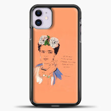 Load image into Gallery viewer, Frida Kahlo Feminst Quotes iPhone 11 Case, Black Plastic Case | casedilegna.com