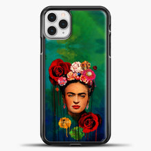 Load image into Gallery viewer, Frida Kahlo Gradient Background iPhone 11 Pro Case, Black Plastic Case | casedilegna.com