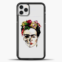Load image into Gallery viewer, Frida Kahlo Skull iPhone 11 Pro Case, Black Plastic Case | casedilegna.com